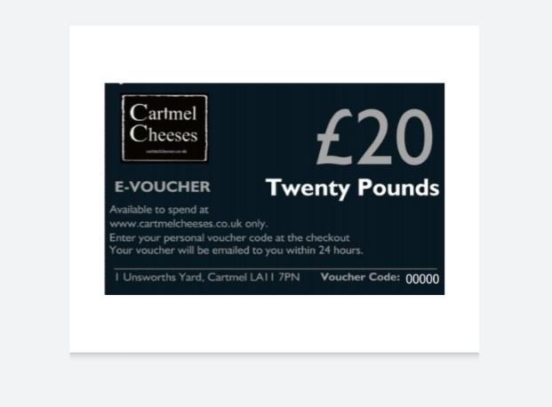 Cartmel Cheeses E-Vouchers